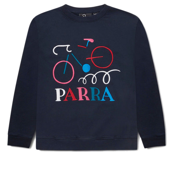 Parra Broken Bike Crew Neck Sweatshirt Navy