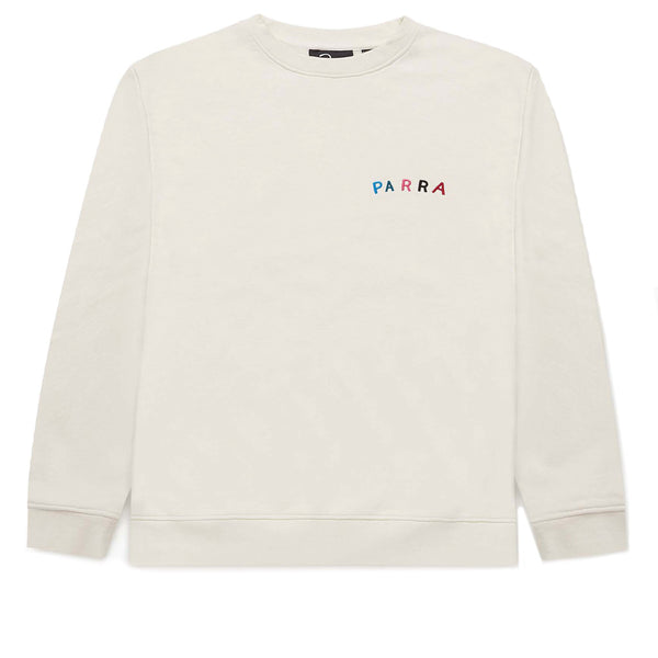 Parra Fonts Are Us Crew Neck Sweatshirt White