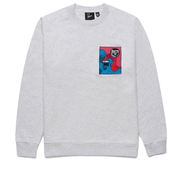 Parra Neurotic Comic Crew Sweatshirt Ash Grey