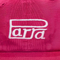 Parra Race Logo 6 Panel Hat Cranberry