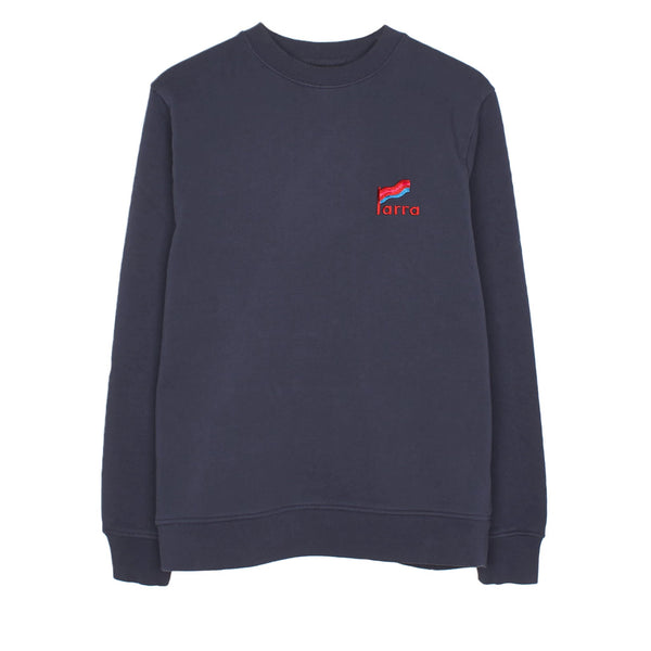 Parra Striped Flag Crewneck Navy Blue