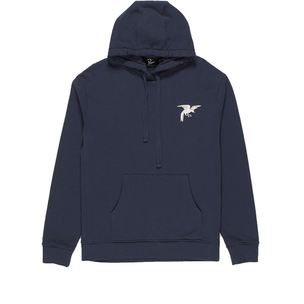 Parra Wrapped Blanket Hooded Sweatshirt Navy Blue Q.