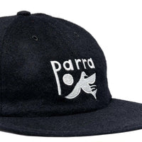 Parra Bird Dodging Ball 6 Panel Hat Black