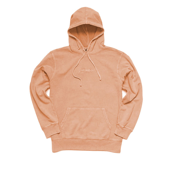 Paterson Script Washed Hoodie Pullover Orange