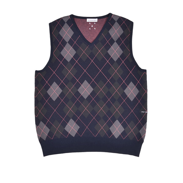 Pop Trading Co. Burlington Knitted Spencer Vest Navy