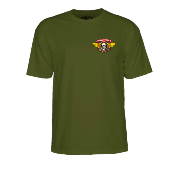 Powell Peralta Winged Ripper Military Green Tee