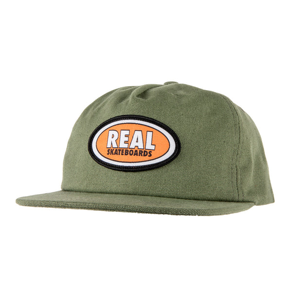 Real Oval Patch Hat Olive / Orange