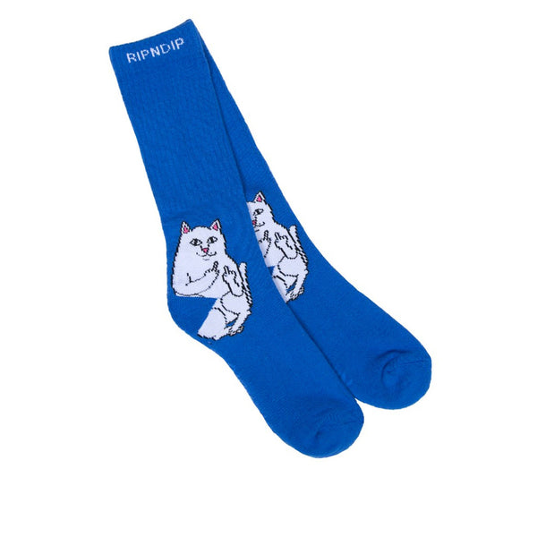 Lord Nermal Ribbed Royal Socks