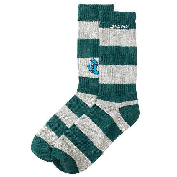 Santa Cruz Socks Screaming Mini Stripe Green