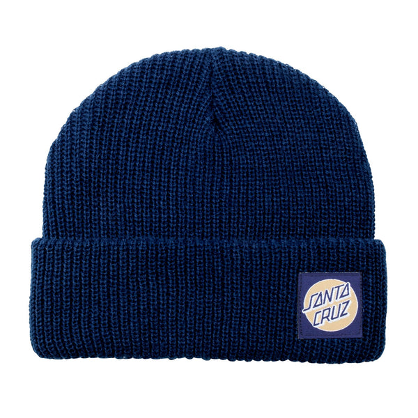 Santa Cruz Beanie Missing Dot Dark Navy