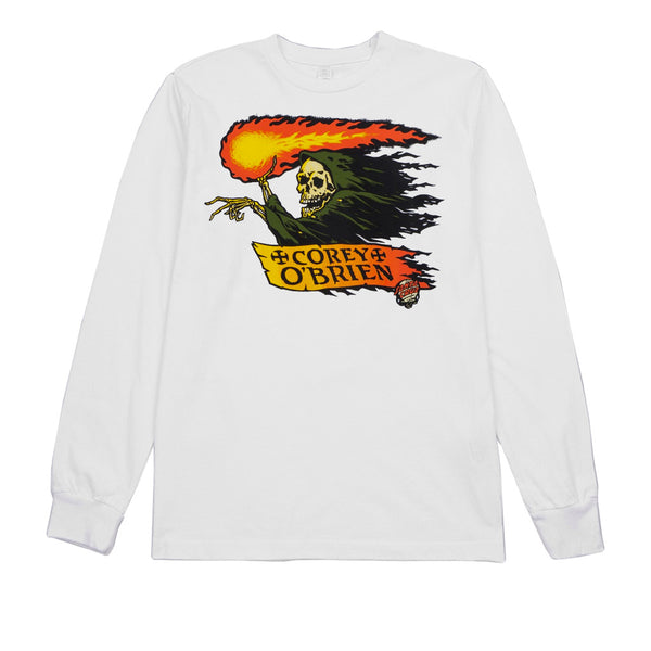 Santa Cruz O'Brien Reaper L/S White