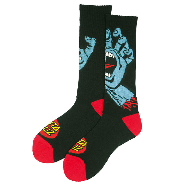 Santa Cruz Socks Screaming Hand Black