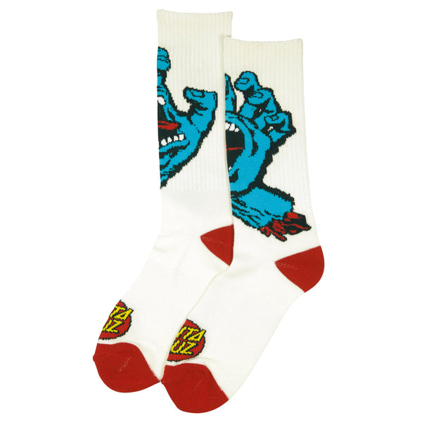 Santa Cruz Socks Screaming Hand White