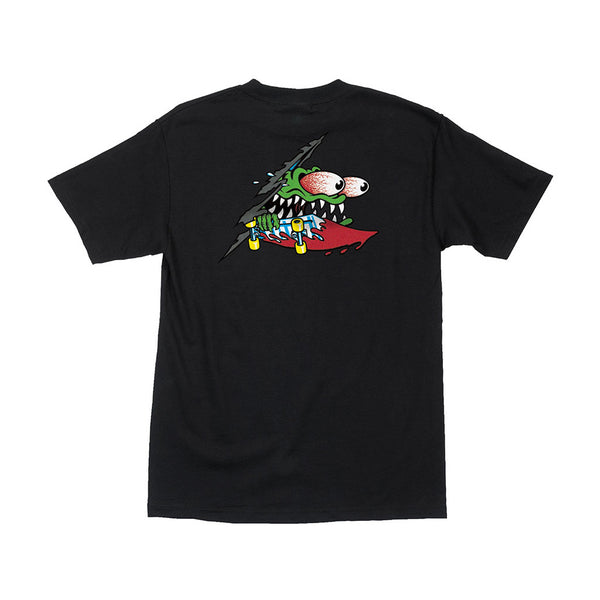 Santa Cruz Slashed Black Tee