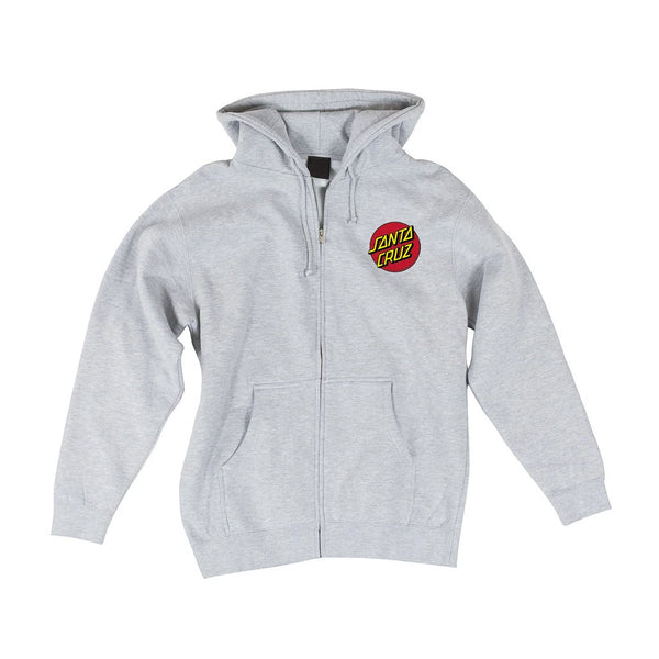 Santa Cruz Zip Hoodie Dot Athletic Gray