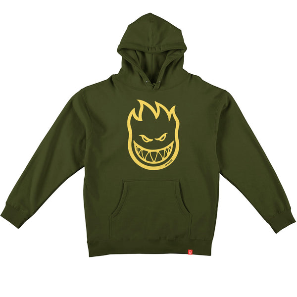 Spitfire Big Head Pullover Hoodie Army