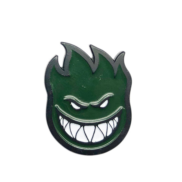 Spitfire Label Pin Big Head Lil Black / Green