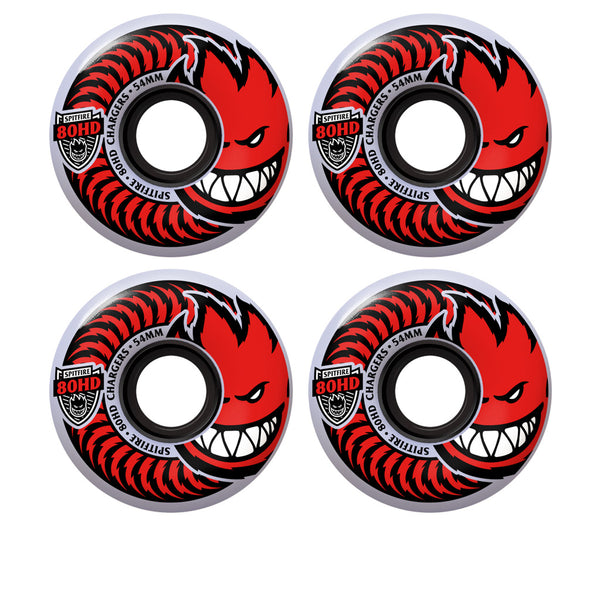 Spitfire Chargers Classics Clear 80HD 54mm (Red)
