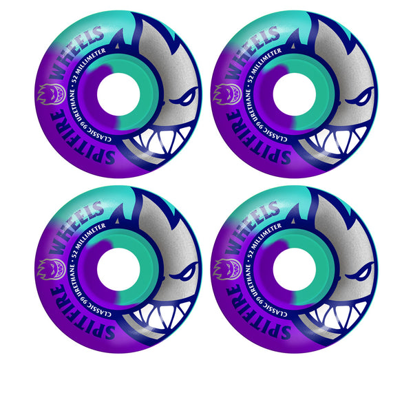Spitfire Big Head Teal / Purple Swirls 52mm