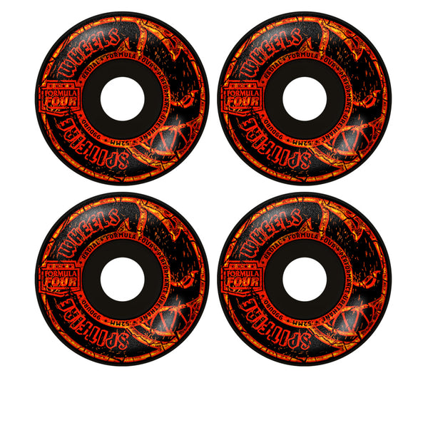 Spitfire F4 99D Embers Radial Black 52mm