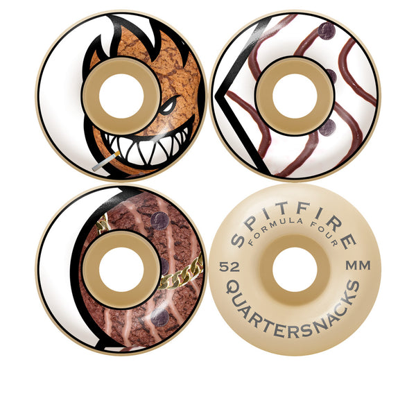 Spitfire X Quarter Snacks Classic F4 99D 52mm