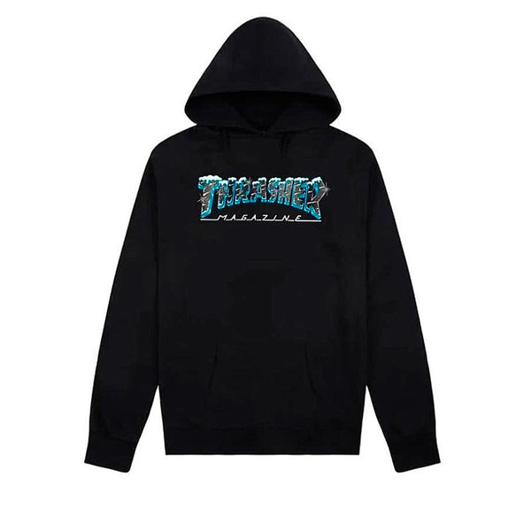 Thrasher Black Ice Hood Black