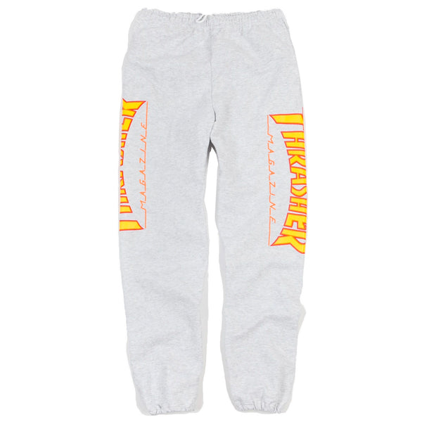 Thrasher Flame Sweatpants Heather Grey Q.