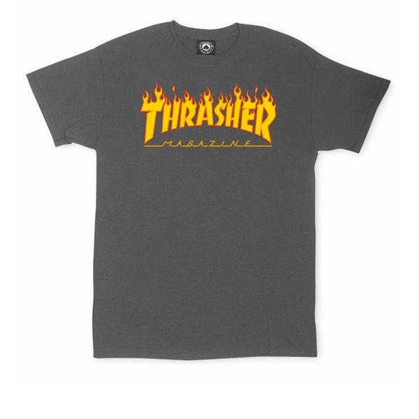 Thrasher Flame Logo T-shirt Charcoal