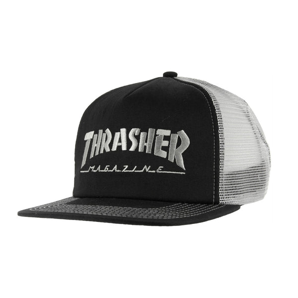 Thrasher Logo Mesh Cap Black/Grey