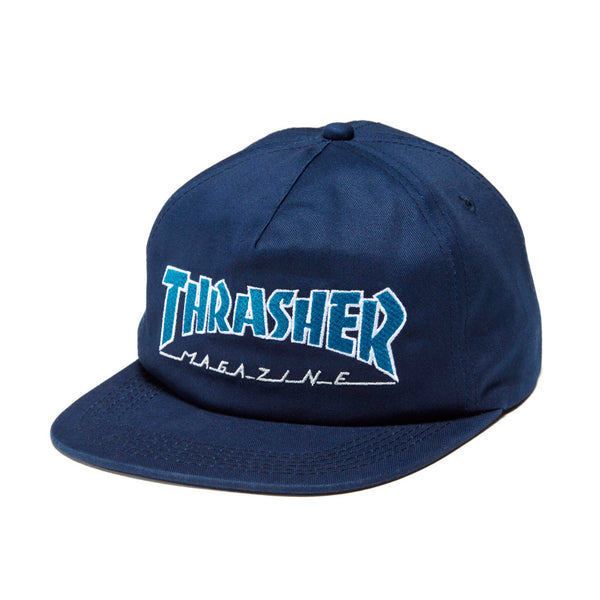 Thrasher Outlined Snapback Navy/Grey