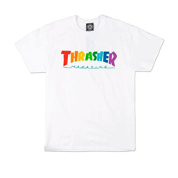 Thrasher Rainbow Mag Tee White
