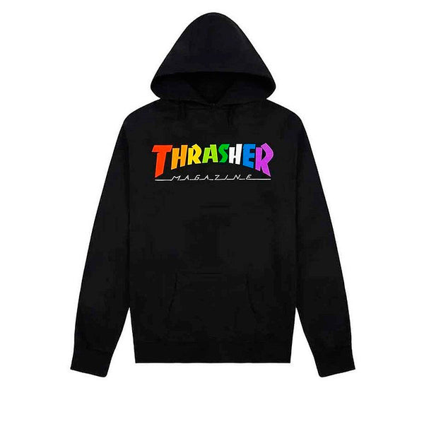 Thrasher Rainbow Mag Hood Black
