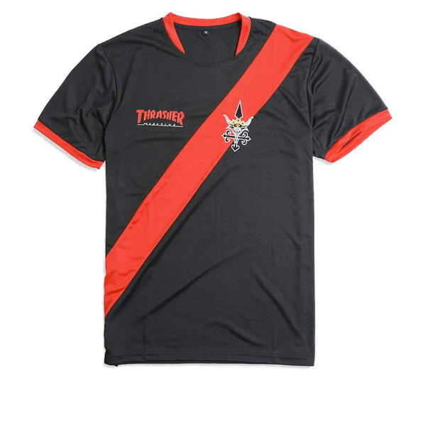 Thrasher Futbol Jersey Black Red