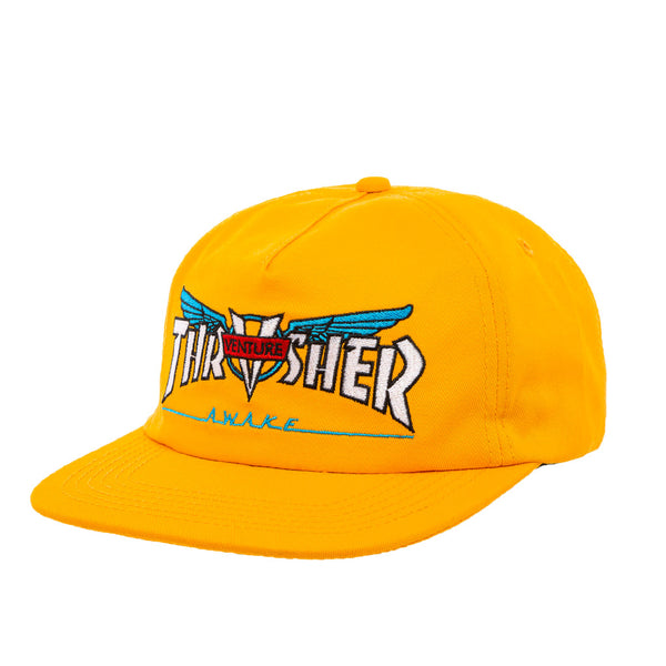 Thrasher X Venture Collab Snapback Gold