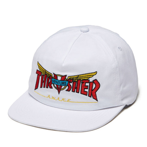 Thrasher X Venture Collab Snapback White