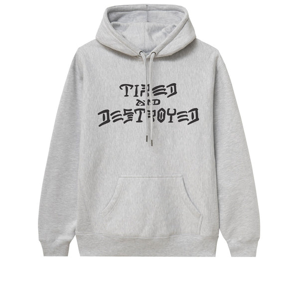 Tired T&D Pullover Hood Heather Grey