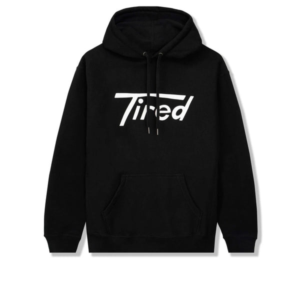 Tired Long T Pullover Hood Black