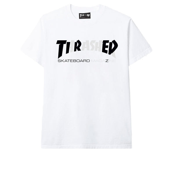 Tired Cover Logo Tee White