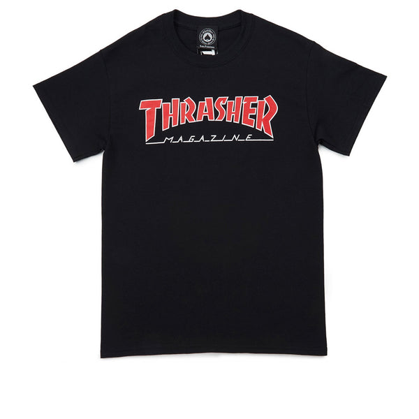 Thrasher Outlined T-shirt Black / Red