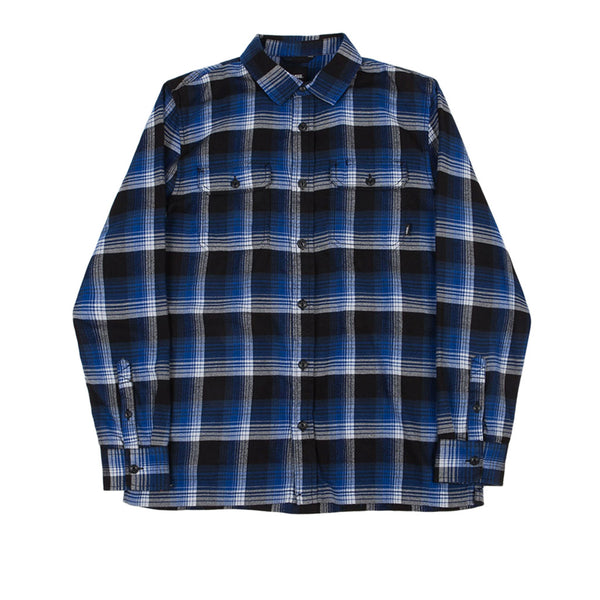 Vans x Anti Hero On The Wire Flannel Shirt True Blue Black