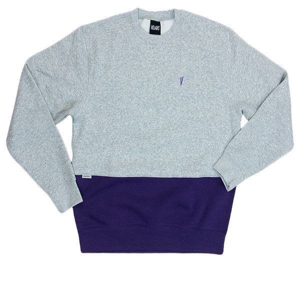 "Villains Crewneck Cut ""V"" Grey/ Purple Q."