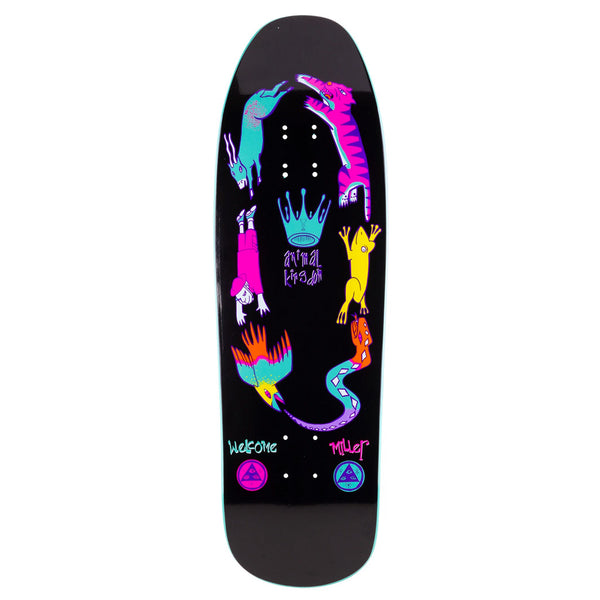 Welcome Skateboards Chris Miller Animal Kingdom on Gaia - Black/Teal Dip - 9.6
