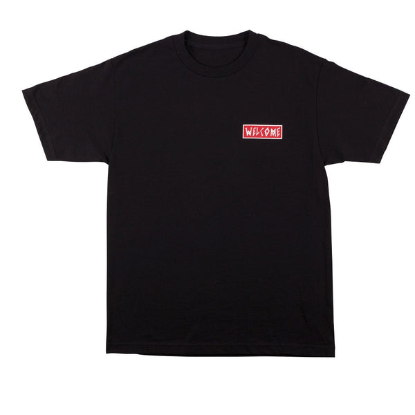 Welcome Skateboards Balance Tee Black / Red / White