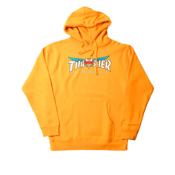 Thrasher X Venture Collab Hoodie Gold