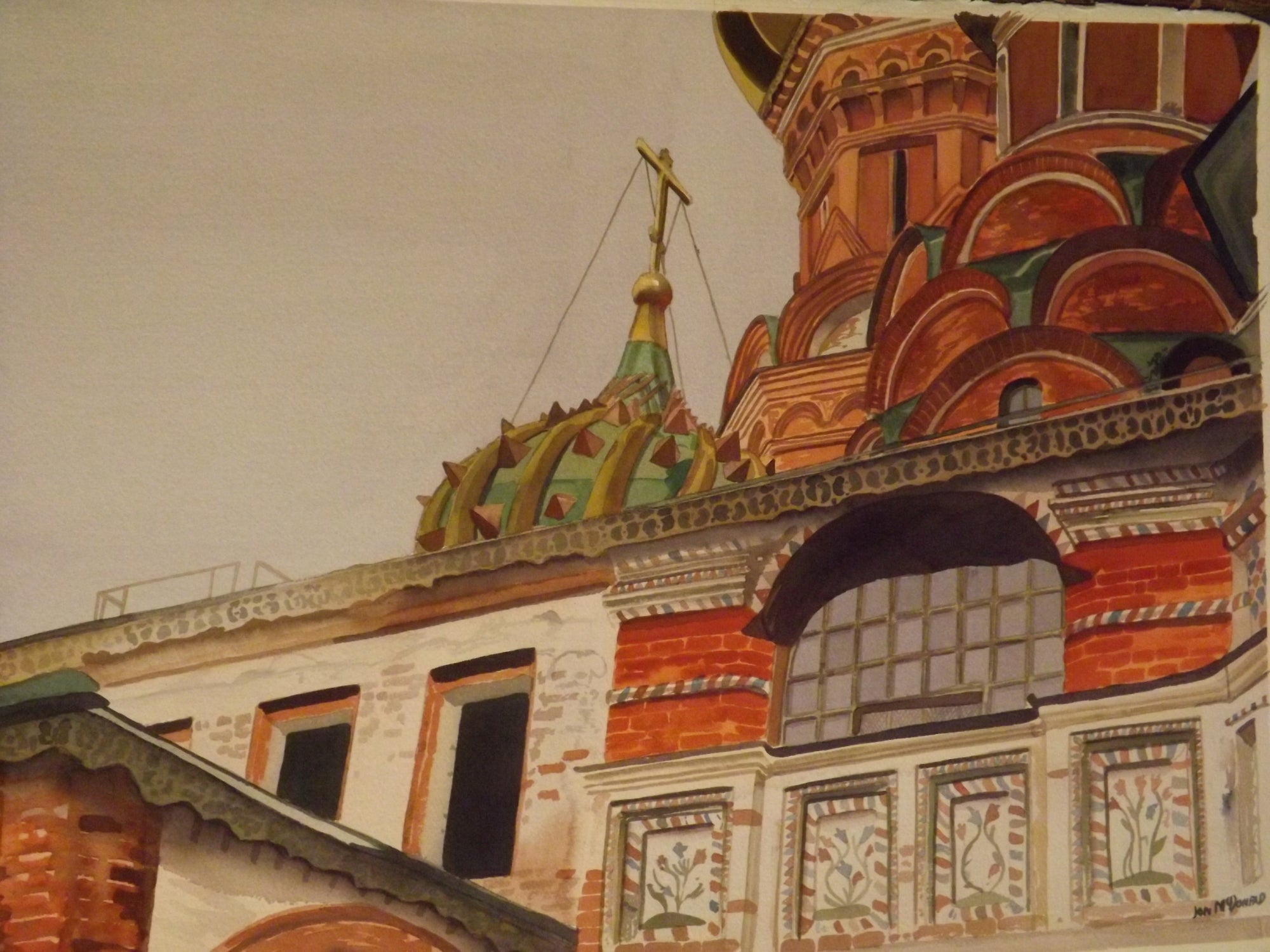Jon McDonald Original Oil Painting For Sale Tower in Moscow