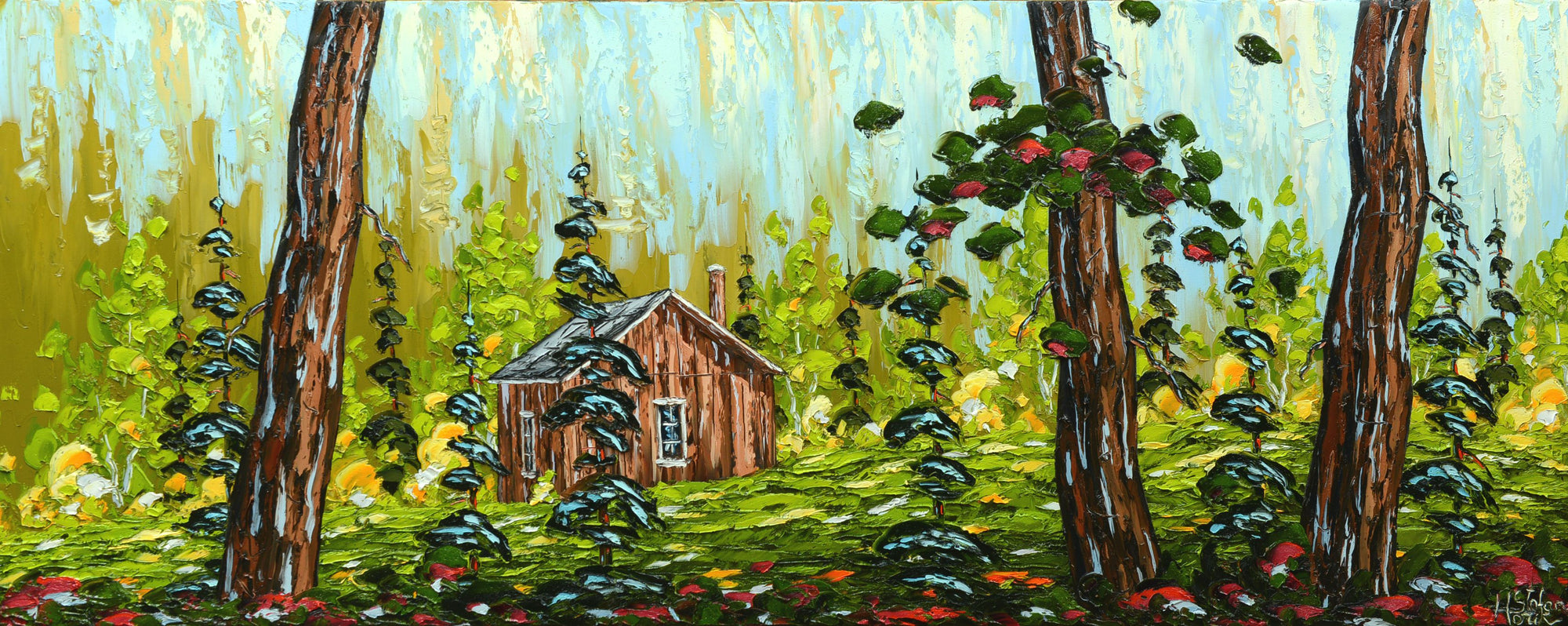 Stefan Horik Original Oil Painting Forest Refuge Quebec