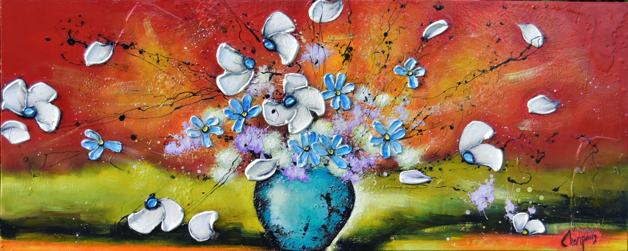 Éclatement floral 24 x 40