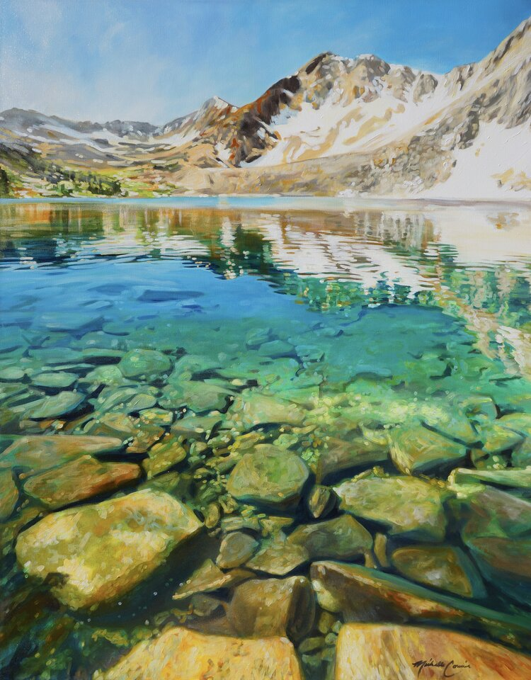 High Mountain Lake 48 x 60