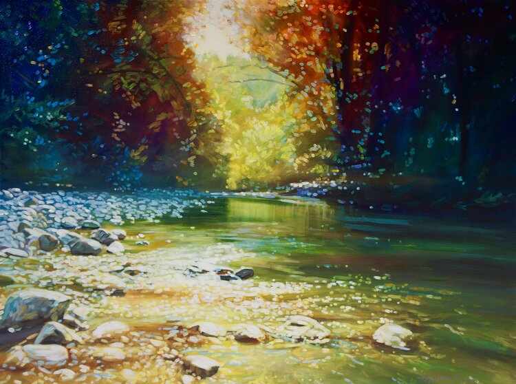 Rainbow on the River 36 x 48