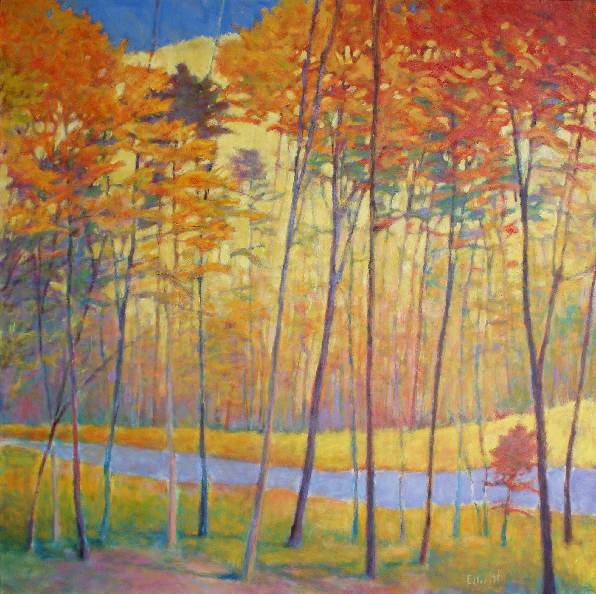 Creek Yellows 48 x 48